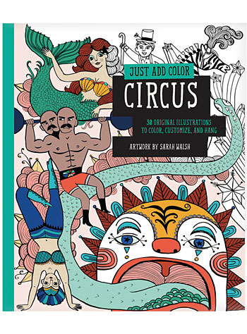 Retro Circus Freaks Coloring Book by Chronicle Books, Books, Multi