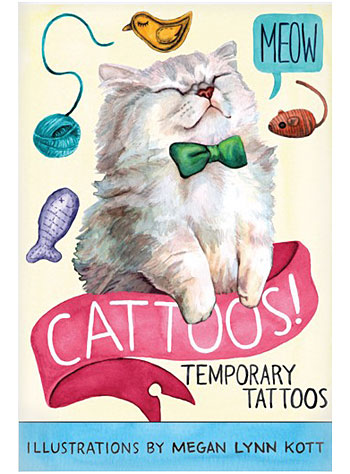 Cattoos: Book of Temporary Tattoos by Chronicle Books, Books, Multi