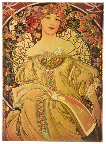 Alphonse Mucha Reverie Gilded Journal by Flame Tree Publishing, Books, Multi