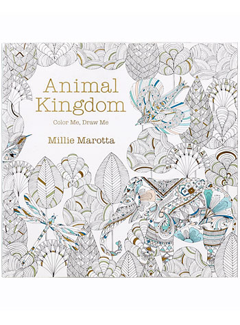 The Intricate Animal Kingdom Coloring Book by Lark Crafts, Books, Multi